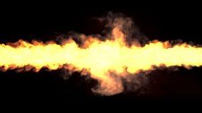 Μαγικός ανεμοστρόβιλος πυρκαγιάς, whirlwind άνευ ραφής βρόχος απεικόνιση αποθεμάτων