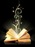 μαγικός ανοικτός βιβλίων Στοκ φωτογραφίες με δικαίωμα ελεύθερης χρήσης