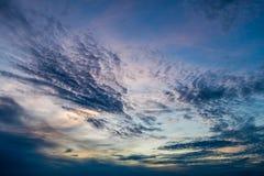 Μαγικός ζωηρόχρωμος ουρανός Στοκ Φωτογραφία