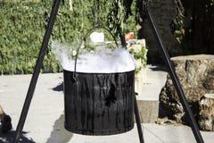 Μαγικός καπνός καζανιών Στοκ Εικόνα