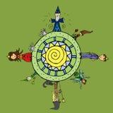 Μαγικός κόσμος Διανυσματική απεικόνιση
