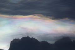Μαγικός ουρανός ουράνιων τόξων Στοκ Εικόνες