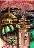 Μαγικός στην πόλη απεικόνιση αποθεμάτων