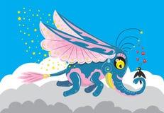 Μαγικός φτερωτός ελέφαντας ελεύθερη απεικόνιση δικαιώματος