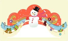 μαγικός χιονάνθρωπος Στοκ φωτογραφίες με δικαίωμα ελεύθερης χρήσης