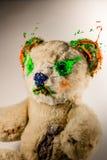 Μαγικός teddy αντέχει χρωματισμένος από πράσινος και πορτοκαλής στοκ φωτογραφία