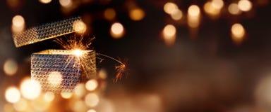 Μαγικό δέμα δώρων Στοκ φωτογραφία με δικαίωμα ελεύθερης χρήσης