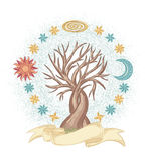 Μαγικό δέντρο ουρανού διανυσματική απεικόνιση