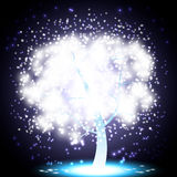 μαγικό δέντρο Χριστουγένν&om Στοκ Εικόνα