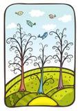 μαγικό δάσος Ελεύθερη απεικόνιση δικαιώματος