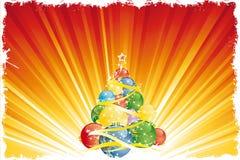 μαγικό δέντρο Χριστουγένν&om απεικόνιση αποθεμάτων
