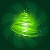 μαγικό δέντρο Χριστουγένν&om Διανυσματική απεικόνιση