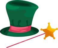 μαγικό διάνυσμα καπέλων Στοκ Φωτογραφίες