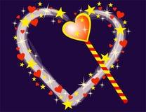 μαγικό διάνυσμα καρδιών Στοκ Εικόνα