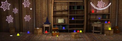 μαγικό δωμάτιο Στοκ Εικόνες