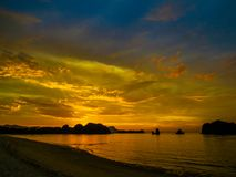 μαγικό ηλιοβασίλεμα Στοκ Εικόνα