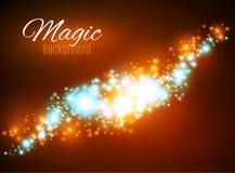 Μαγικό διάστημα Άπειρο σκόνης νεράιδων αφηρημένος κόσμος ανασκόπ&e Μπλε υπόβαθρο και λάμποντας αστέρια ελεύθερη απεικόνιση δικαιώματος