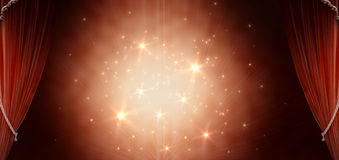 μαγικό κόκκινο κουρτινών Στοκ φωτογραφία με δικαίωμα ελεύθερης χρήσης