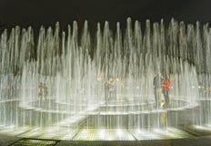 Μαγικό κύκλωμα της Λίμα Περού νερού στοκ φωτογραφία με δικαίωμα ελεύθερης χρήσης
