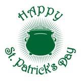 Μαγικό δοχείο leprechaun των χρυσών νομισμάτων Σύμβολο εορτασμού ημέρας του ST Patricks Στοκ Φωτογραφίες