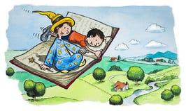 Μαγικό πετώντας βιβλίο Στοκ Εικόνες
