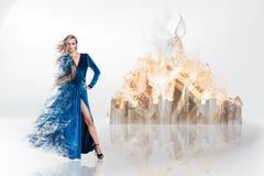 Μαγικό πορτρέτο φαντασίας της προκλητικής όμορφης γυναίκας Στοκ Εικόνες