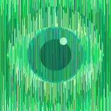 Μαγικό πράσινο σημάδι ματιών στο γεωμετρικό μοναδικό ύφος Τα κάθετα λωρίδες διαμορφώνουν την εικόνα Συνεργασία του χρώματος, της  απεικόνιση αποθεμάτων