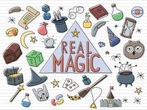 Μαγικό σύνολο doodle Στοκ φωτογραφία με δικαίωμα ελεύθερης χρήσης