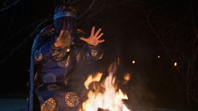 Μαγικό τελετουργικό σαμάνων απόθεμα βίντεο