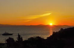 Μαγικό τοπίο ηλιοβασιλέματος Στοκ Εικόνες