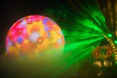 Μαγικό φως διακοπών της Μόσχας Στοκ εικόνες με δικαίωμα ελεύθερης χρήσης