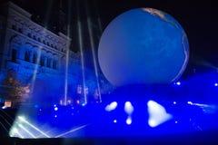 Μαγικό φως διακοπών της Μόσχας Στοκ εικόνα με δικαίωμα ελεύθερης χρήσης