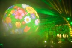 Μαγικό φως διακοπών της Μόσχας Στοκ Εικόνες