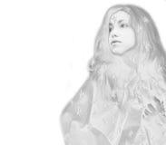 μαγικό χιόνι βασίλισσας Στοκ εικόνα με δικαίωμα ελεύθερης χρήσης