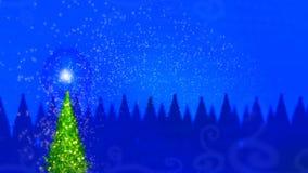 Μαγικό χριστουγεννιάτικο δέντρο διανυσματική απεικόνιση