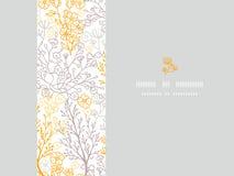 Μαγικό floral οριζόντιο υπόβαθρο σχεδίων πλαισίων άνευ ραφής Στοκ εικόνα με δικαίωμα ελεύθερης χρήσης