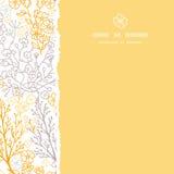 Μαγικό floral τετραγωνικό σχισμένο υπόβαθρο σχεδίων πλαισίων άνευ ραφής Στοκ Φωτογραφίες