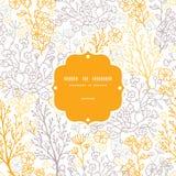 Μαγικό floral υπόβαθρο σχεδίων πλαισίων άνευ ραφής Στοκ Εικόνες