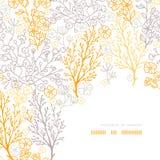 Μαγικό floral υπόβαθρο σχεδίων πλαισίων γωνιών Στοκ φωτογραφία με δικαίωμα ελεύθερης χρήσης