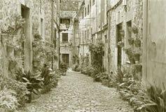 Μαγιόρκα - οι παλαιοί διάδρομοι του χωριού Valldemossa στοκ φωτογραφία με δικαίωμα ελεύθερης χρήσης