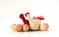 μαγκάλι αυγών αυγών Στοκ Εικόνες