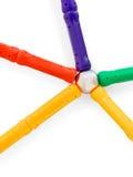 Μαγνήτης με τα συνδεδεμένα χρωματισμένα μέρη Στοκ φωτογραφία με δικαίωμα ελεύθερης χρήσης