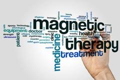 Μαγνητικό σύννεφο λέξης θεραπείας Στοκ Εικόνες