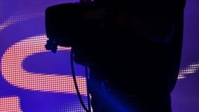 Μαγνητοσκόπηση καμεραμάν στη σκηνή απόθεμα βίντεο