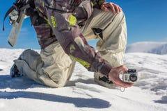 μαγνητοσκόπηση με τη κάμερα δράσης Στοκ Εικόνες