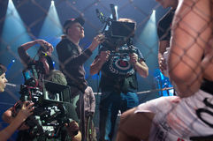 Μαγνητοσκόπηση ο πολεμιστής κινηματογράφων Στοκ φωτογραφίες με δικαίωμα ελεύθερης χρήσης