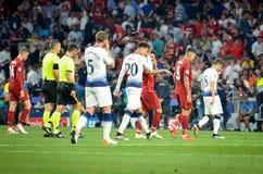 Μαδρίτη, Ισπανία - 1 ΜΑΐΟΥ 2019: Ο ποδοσφαιριστής άφησε τον τομέα κατά τη διάρκεια του τελικού αγώνα UEFA Champions League το 201 στοκ εικόνες