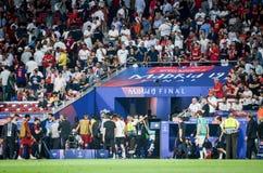 Μαδρίτη, Ισπανία - 1 ΜΑΐΟΥ 2019: Ο ποδοσφαιριστής άφησε τον τομέα κατά τη διάρκεια του τελικού αγώνα UEFA Champions League το 201 στοκ εικόνα με δικαίωμα ελεύθερης χρήσης