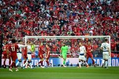 Μαδρίτη, Ισπανία - 1 ΜΑΐΟΥ 2019: Ποδοσφαιριστής κατά τη διάρκεια του τελικού αγώνα UEFA Champions League 2019 μεταξύ FC Λίβερπουλ στοκ φωτογραφία με δικαίωμα ελεύθερης χρήσης