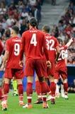 Μαδρίτη, Ισπανία - 1 ΜΑΐΟΥ 2019: Ποδοσφαιριστής κατά τη διάρκεια του τελικού αγώνα UEFA Champions League 2019 μεταξύ FC Λίβερπουλ στοκ εικόνες